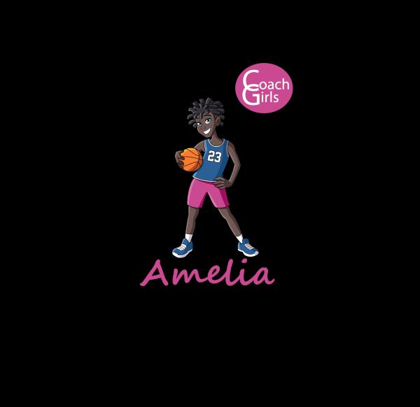 Amelia 23 - Black T-Shirt - Coach Girls Team