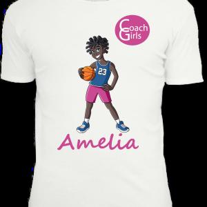 Amelia 23 - White T-Shirt - Coach Girls Team
