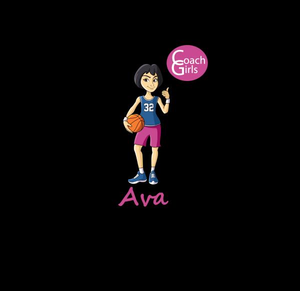 Ava 32 - Black T-Shirt - Coach Girls Team
