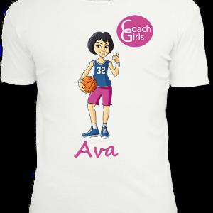 Ava 32 - White T-Shirt - Coach Girls Team
