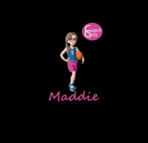 Maddie 5 - Black T-Shirt - Coach Girls Team