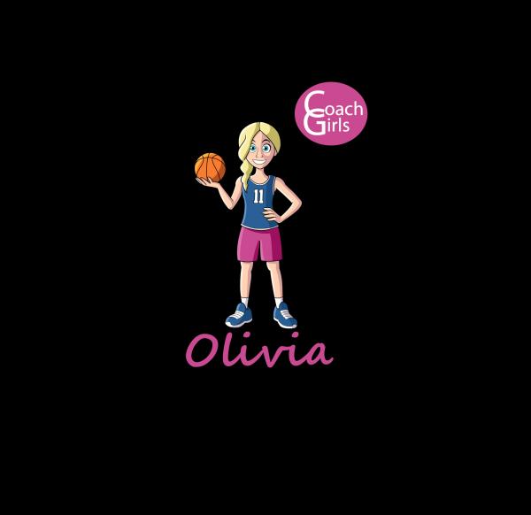 Olivia 11 - Black T-Shirt - Coach Girls Team