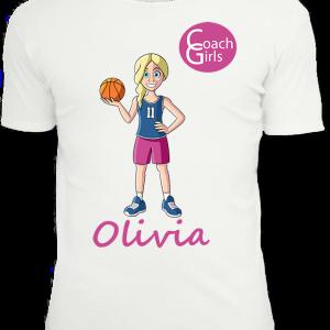 Olivia 11 - White T-Shirt - Coach Girls Team