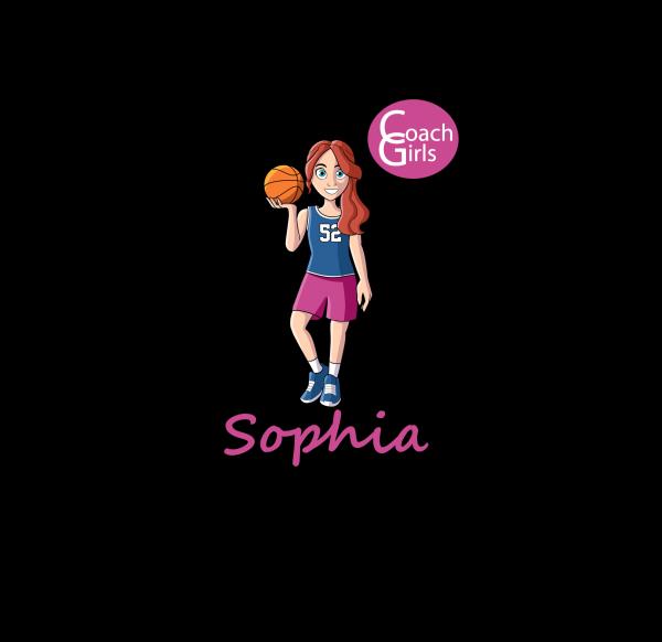 Sophia 52 - Black T-Shirt - Coach Girls Team